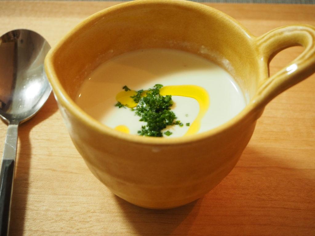 枝豆豆腐の冷製スープ