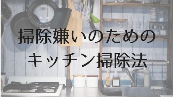 掃除嫌いのためのキッチン掃除法