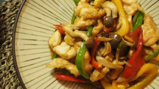ささみと彩り野菜の青椒肉絲風
